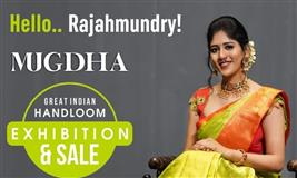 The Great Indian Handloom Exhibition and Sale From Mugdha is back at Rajahmundry