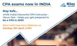 Great News: US CPA exams now in INDIA