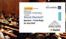 How to make Money from Stock Markets? Join the Seminar on 20th July, Delhi
