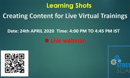 Learning Shots: Creating Content for Live Virtual Trainings