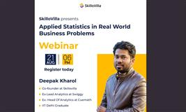 Applied Statistics in real-world business problems.