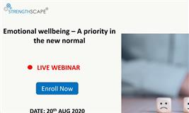 [Webinar] Emotional wellbeing – A priority in the new normal