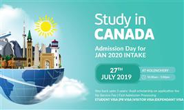 CANADA - Admission Day for Jan 2020 intake