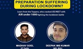 Take lockdown period as an advantage for IIT-JEE & NEET Entrance Exam