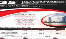 35th World Conference on Applied Science, Engineering and Technology