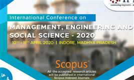 International Conference on Management, Engineering and Social science-2020