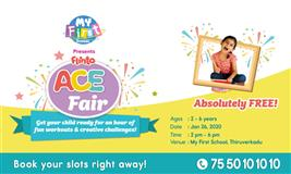 Flinto ACE fair @ My First School, Thiruverkadu