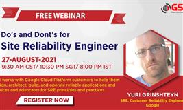 GSDC Webinar - Do's and Dont's for Site Reliability Engineer