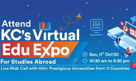 Attend KC's Virtual Edu Expo and apply for 2021 Intakes for Bachelor's or Master's abroad.