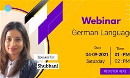 German Language Webinar on 04 September 2021