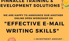 """OPEN WORKSHOP  """"EFFECTIVE E-MAIL WRITING SKILLS"""""""