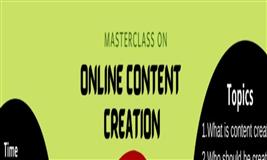 Masterclass on - Online content creation