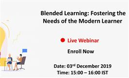[Webinar] Blended Learning: Fostering the Needs of the Modern Learner