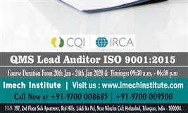 ISO 9001:2015 Auditor Lead Auditor Course Training From 20th Jan – 24th Jan 2020 In Hyderabad