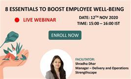 [Free Webinar] 8 Essentials to Boost Employee Well-being
