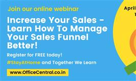 INCREASE YOUR SALES – LEARN HOW TO MANAGE YOUR SALES FUNNEL BETTER!