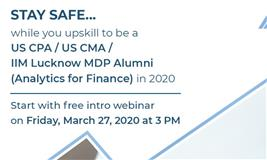 Stay Safe as you upskill to be a future-ready finance professional in 2020