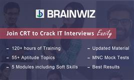 Attend Demo for Campus Recruitment Training - BRAINWIZ
