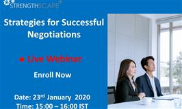 Free Webinar Strategies for Successful Negotiations