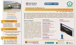 "International Conference on ""Multidisciplinary Perspectives in Engineering & Technology"""