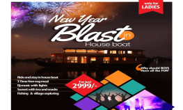 New Year Blast in House Boat