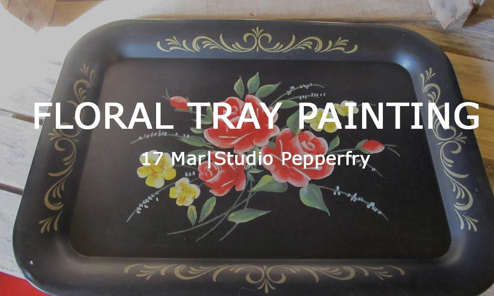 Floral Tray Painting