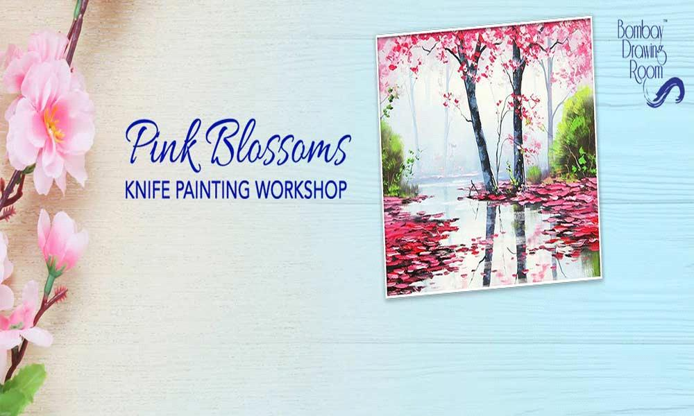 Pink Blossoms Knife Painting Workshop