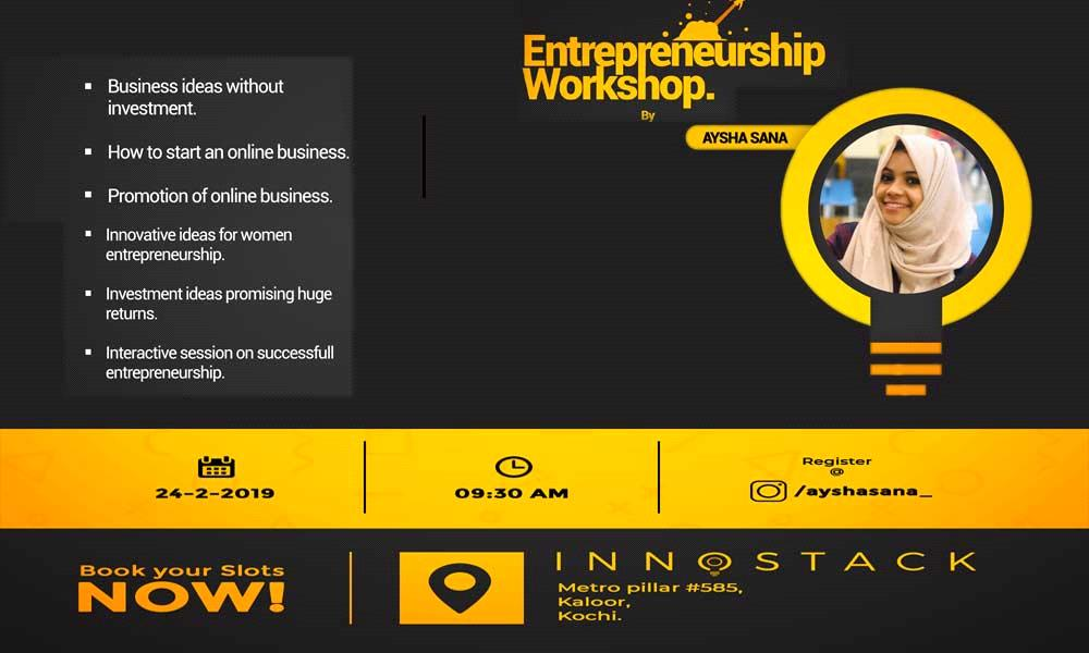 Entrepreneurship Workshop By Aysha Sana